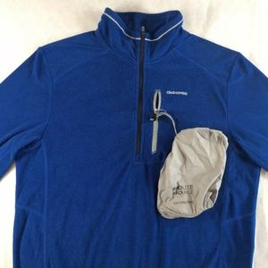 Craghoppers Mens  Blue 1/2 Zip pullover fleece